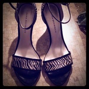 Like new ladies zebra strap heels.  Size 9